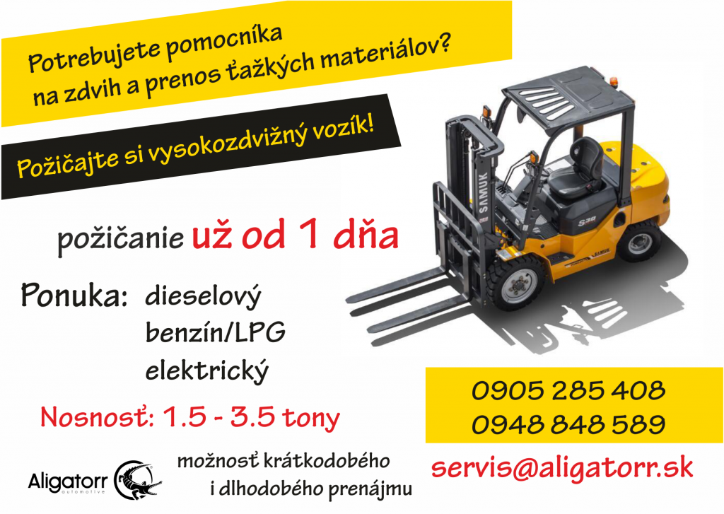 Požičovňa VZV_aligatorr.sk